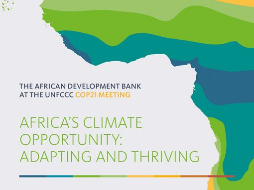 African Development Bank — COP21 Meeting brochure